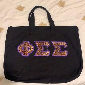 Sorority Black Tote Bag Phi Sigma Sigma